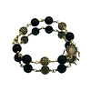 CLASSIC COLLECTION Bracelet with Matte Onyx and Crystal