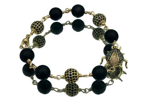 CLASSIC COLLECTION Black, Gold Bracelet