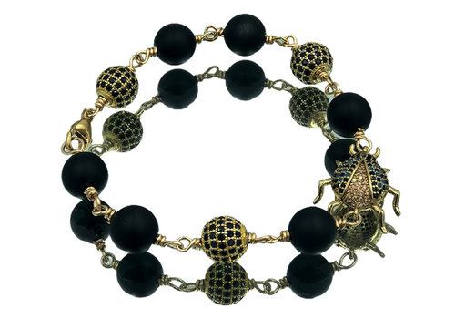 CLASSIC COLLECTION Zwart, Gouden Armband