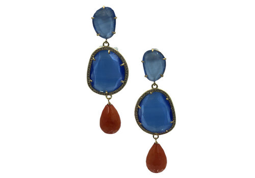 CLASSIC COLLECTION Blue Orange Earring