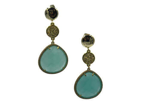CLASSIC COLLECTION Gold, Light Green Earring