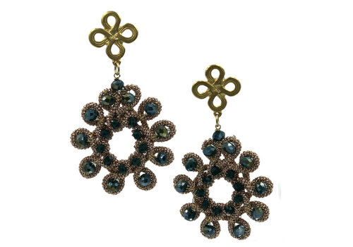 CLASSIC COLLECTION Gold, Green, Copper Earring
