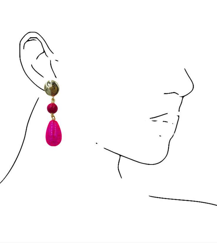 Roze oorbel