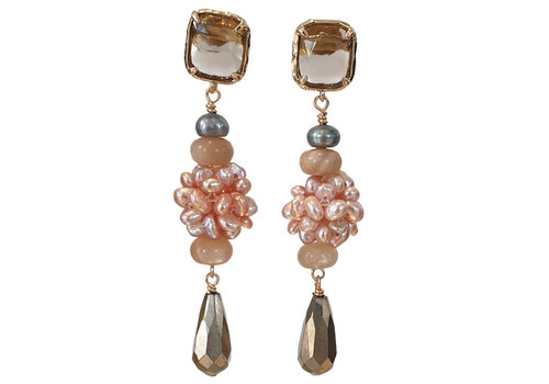 CLASSIC COLLECTION Brown, Pink Earring