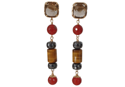 CLASSIC COLLECTION Brown, Orange Earring