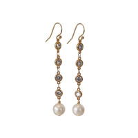 Earrings with Crystal and Pearl
