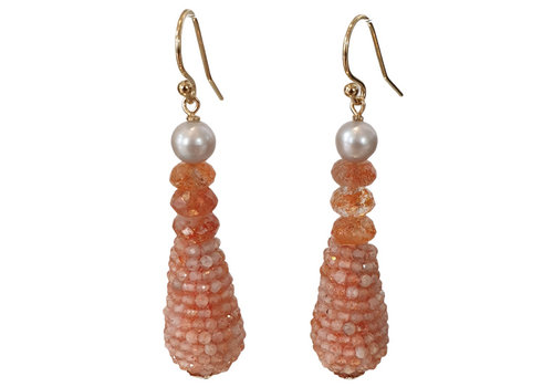 CLASSIC COLLECTION Orange, White Earring