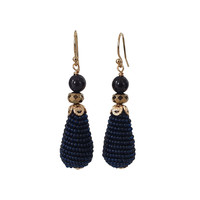 Earrings with Goldstone, Pyrite and Icicle with Beads