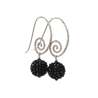 Earrings with Spinel