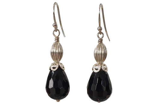 CLASSIC COLLECTION Silver, Black Earring