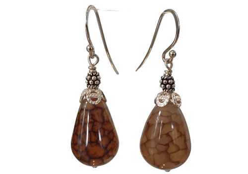 CLASSIC COLLECTION Silver, Brown Earring