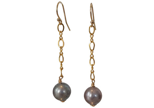 CLASSIC COLLECTION Gold, Gray Earrings