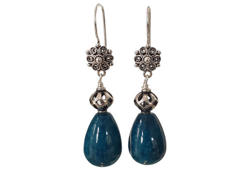 CLASSIC COLLECTION Silver, Blue Green Earring