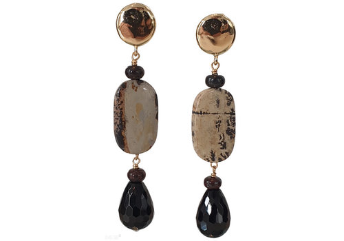 CLASSIC COLLECTION Black, Beige Earring
