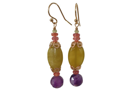 CLASSIC COLLECTION Green Purple Earring