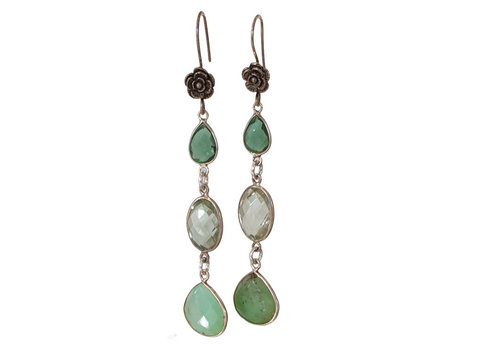 CLASSIC COLLECTION Silver, Green Earrings