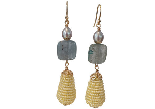 CLASSIC COLLECTION Blue, Yellow Earring