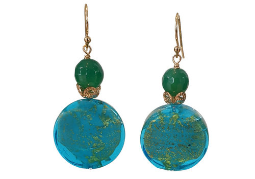 CLASSIC COLLECTION Green, Blue Earring
