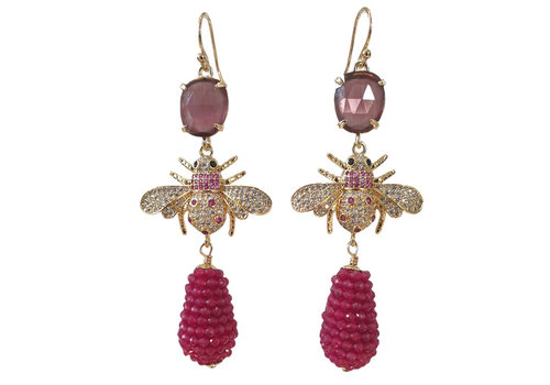 CLASSIC COLLECTION Wine Red, Purple Earring