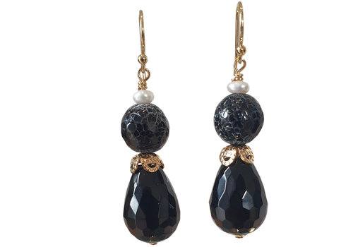 CLASSIC COLLECTION Black Earring