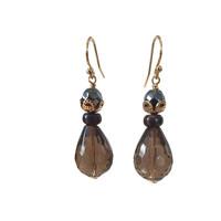 Earrings with Hematite, Jasper and Smoky Quartz