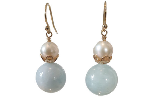 CLASSIC COLLECTION Blue, White Earring