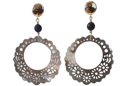 CLASSIC COLLECTION Gold, Brown, Black Earring