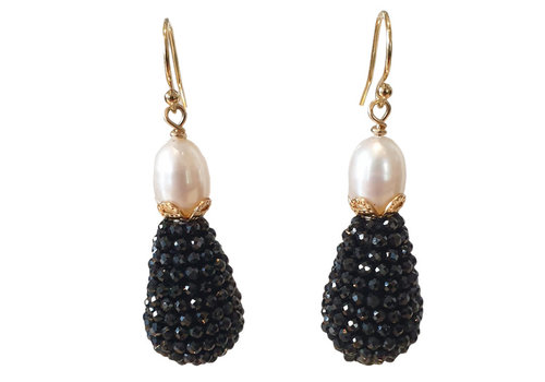 CLASSIC COLLECTION Black, White Earring