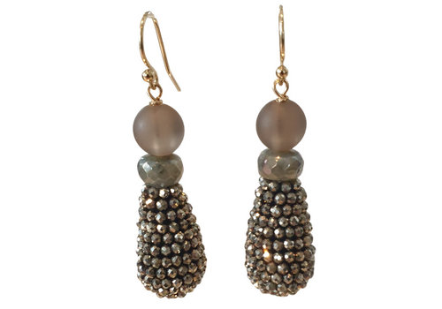 CLASSIC COLLECTION Brown, Green Earring
