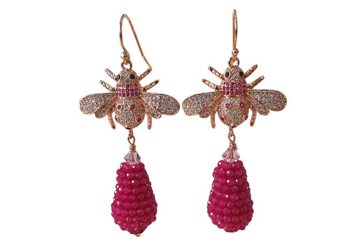CLASSIC COLLECTION Wine Red Earring