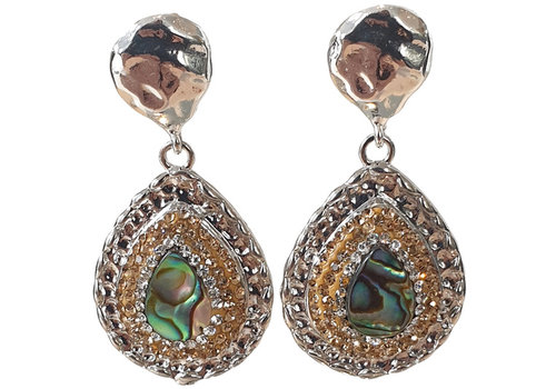 TREND COLLECTION Silver, Gold, Green Earring