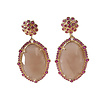 TREND COLLECTION Earrings with Crystal and Moonstone