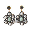 TREND COLLECTION Earrings with Marcasite, Pearl and Agate
