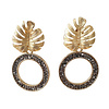 TREND COLLECTION Earrings with Bras and Markasite round