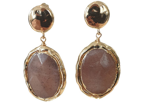TREND COLLECTION Gold, Brown, Nude Earring