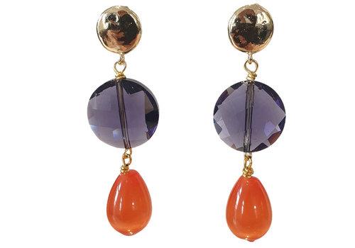 TREND COLLECTION Purple, Orange Earring