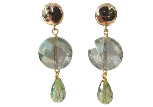 TREND COLLECTION Gold, Green Earring