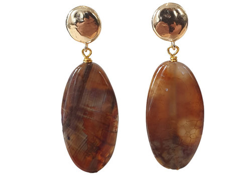 TREND COLLECTION Gold, Brown Earring