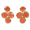 TREND COLLECTION Earrings with cat's eye - orange