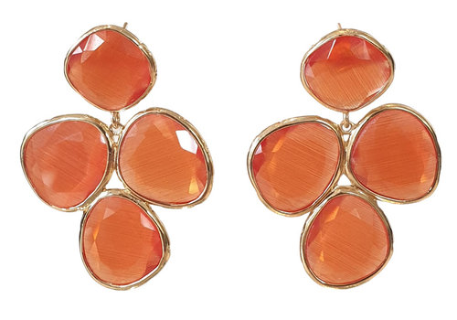 TREND COLLECTION Orange Earring