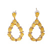 TREND COLLECTION Earrings with Crystal and Cat's Eye