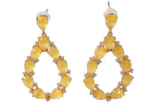 TREND COLLECTION Yellow Earring