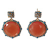 TREND COLLECTION Earrings with cat's eye and crystal - blue orange
