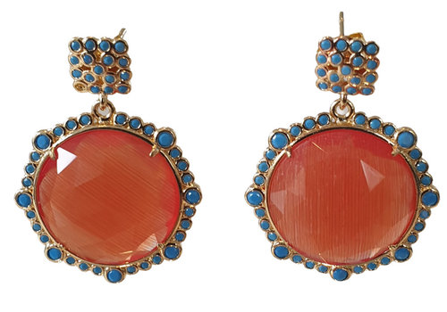 TREND COLLECTION Blue, Orange Earring