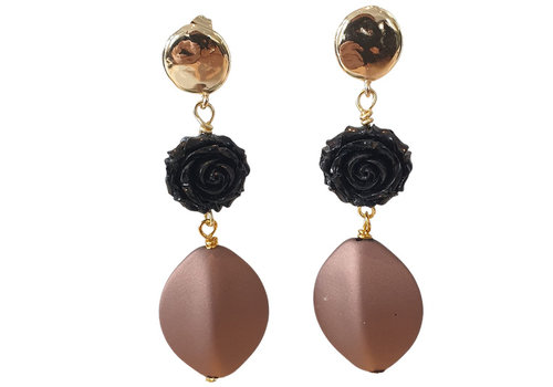 TREND COLLECTION Gold, Black, Bronze Earring