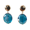 TREND COLLECTION Earrings with Bras and Crystal with Coating