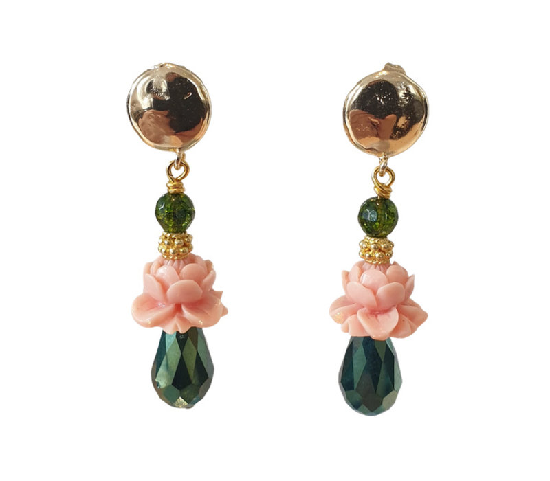 Olive Crystal, Resin and Crystal