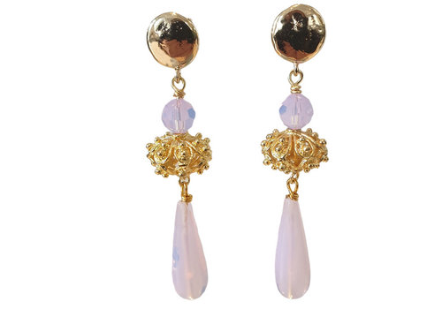 TREND COLLECTION Purple, Gold Earring