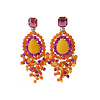 CLASSIC COLLECTION Earrings with various gemstones - Cop