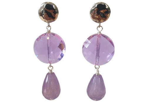 TREND COLLECTION Purple, Silver Earring